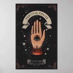Poster Graphique magique de main de tombes de Perceval