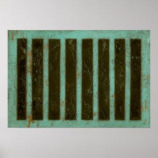Poster Grille contemporaine d'air de turquoise