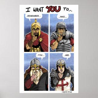 Poster Grille de guerrier de Wester