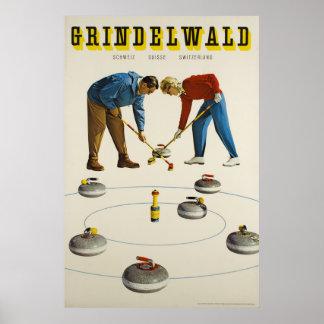 Poster Grindelwald, Suisse, affiche de voyage