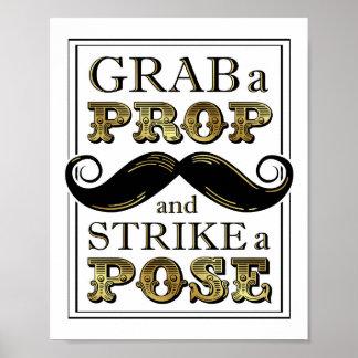 Poster GRIPPAGE vintage d'or une GRÈVE d'APPUI VERTICAL