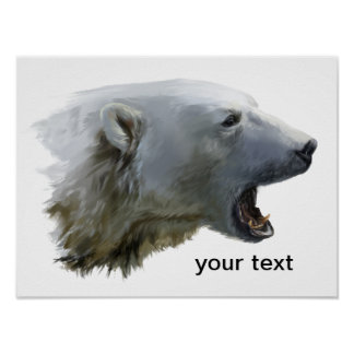 Poster Grondements d'un ours blanc