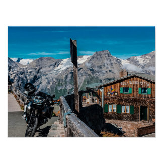 Poster Grossglockner route des Alpes des Alpes - affiche