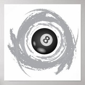 Poster Grunge gentille de circulaire de billard