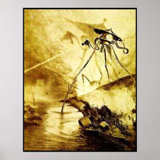 Poster Guerre du trépied des mondes - affiche martienne