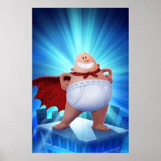 Poster Guerrier de ceinture de capitaine Underpants | sur