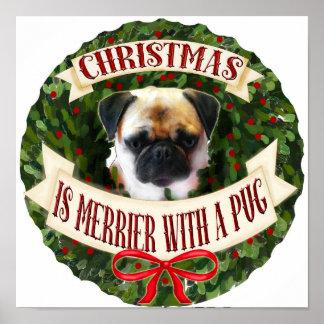 Poster Guirlande de chien de Noël. Races personnalisées