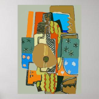 Poster Guitare abstraite