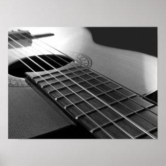 Poster Guitare acoustique