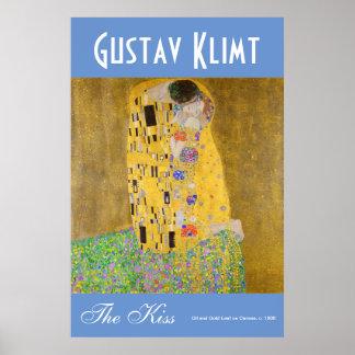 Poster Gustav Klimt la couleur vibrante d'amants de