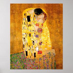 """Poster Gustav Klimt """"le baiser """""""