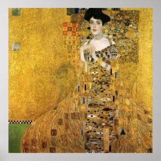 Poster GUSTAV KLIMT - Portret van Adèle Bloch-Bauer 1907