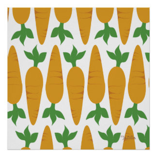 Poster Gwennie le petit pain : Champ des carottes
