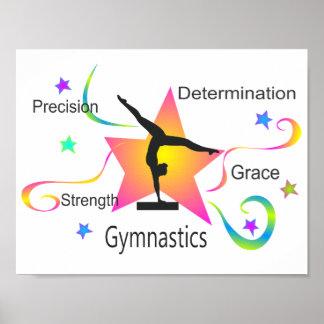 Poster Gymnastique - détermination Grac de résistance à