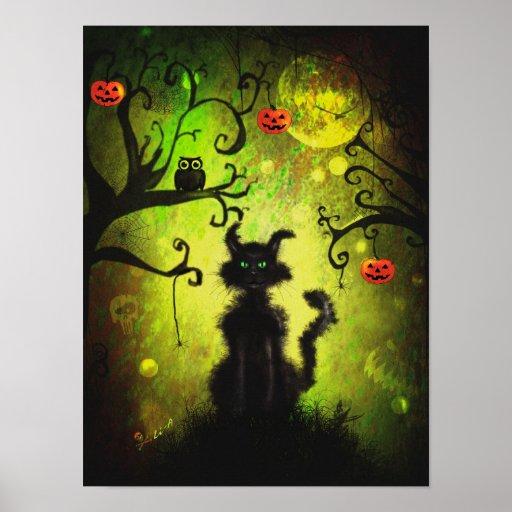 Poster halloween cat