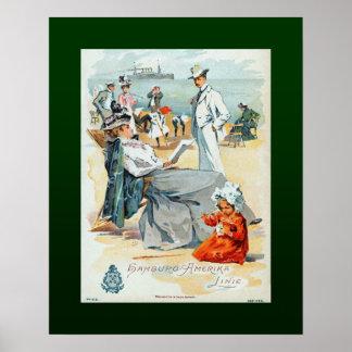 Poster Hambourg-Amerika Lines~SS Victoria Luise~Children~