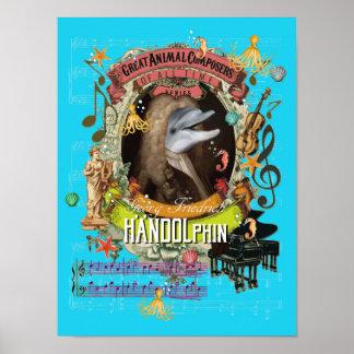 Poster Handel charrient le compositeur de dauphin de