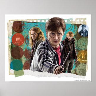 Poster Harry, Hermione, et Ron 1