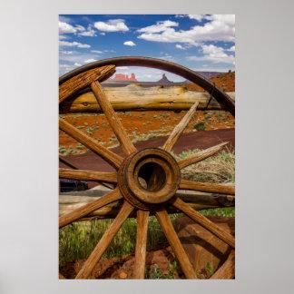 Poster Haut étroit de roues, Arizona