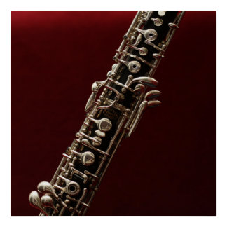 Poster Hautbois - instrument de musique de bois de double