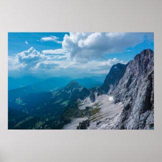 Poster Haute pierre de toit dans les Alpes