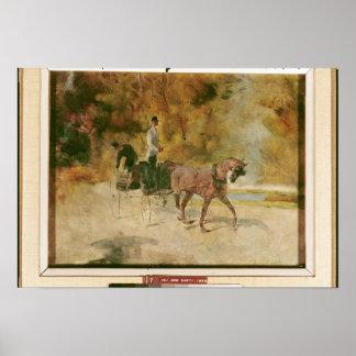 Poster Henri De Toulouse-Lautrec   un dog-cart