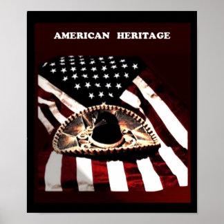 Poster Héritage mexicain américain