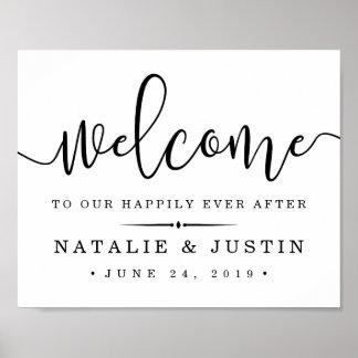 Poster Heureusement pour toujours signe bienvenu