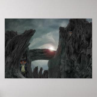 Poster Hiboux de garde en canyon du diable