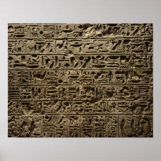 Poster hiéroglyphes égyptiens antiques