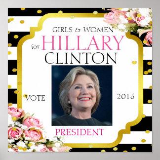 Poster Hillary Clinton pour le président 2016