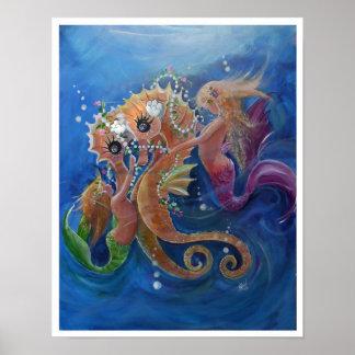 Poster Hippocampes et sirènes