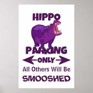 Poster Hippopotame garant seulement l'affiche de signe