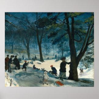 Poster Hiver de Central Park de William James Glackens