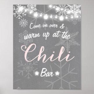 Poster Hiver rustique frais de flocon de neige de rose de