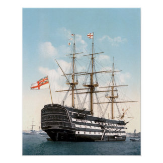 """Poster HMS Victory 16"""" x 20"""" affiche"""
