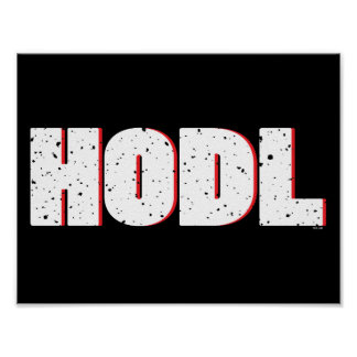 POSTER HODL