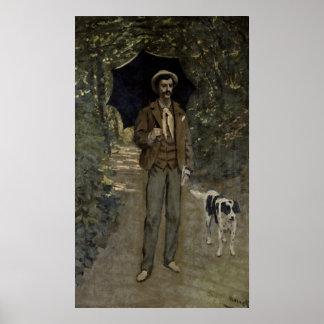 Poster Homme de Claude Monet | avec un parapluie,
