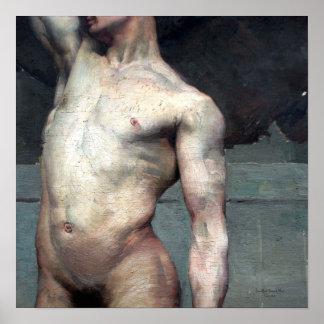 Poster Homme nu académique 19ème
