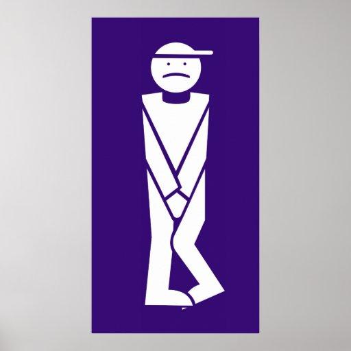 Poster Homme pour toilettes