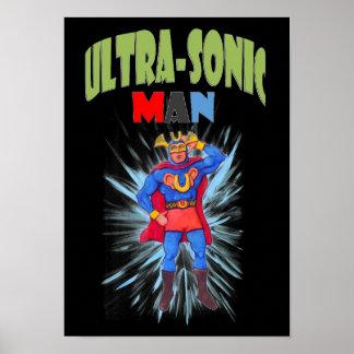 Poster Homme ultrasonique