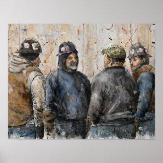 Poster Hommes au travail
