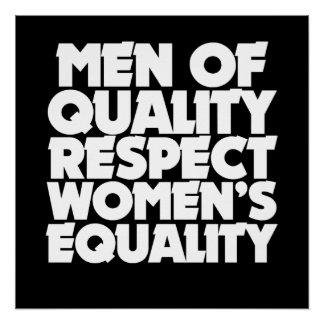 Poster Hommes de l'égalité des femmes de respect de