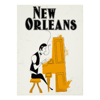 Poster Honky Tonk de la Nouvelle-Orléans