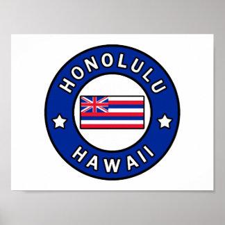 Poster Honolulu Hawaï