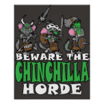 Poster Horde de chinchilla