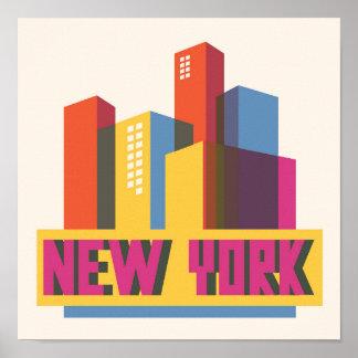Poster Horizon au néon de New York City |