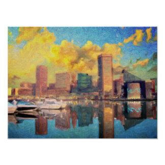Poster Horizon de Baltimore le Maryland