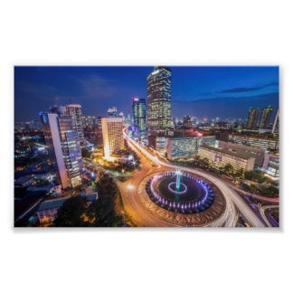 Poster Horizon de nuit de Jakarta