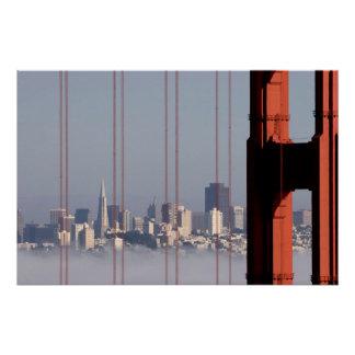 Poster Horizon de San Francisco de pont de Golden Gate